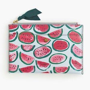 "SOLD! J.Crew ""Watermelon"" Pouch/Clutch"